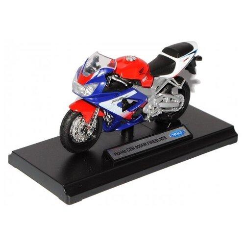 Мотоцикл Welly Honda CBR900RR Fireblade (12164P) 1:18 модель мотоцикла welly 1 18 honda gold wing