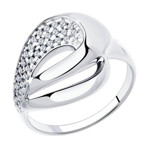 Diamant Кольцо из серебра с фианитами 94-110-00691-1, размер 18