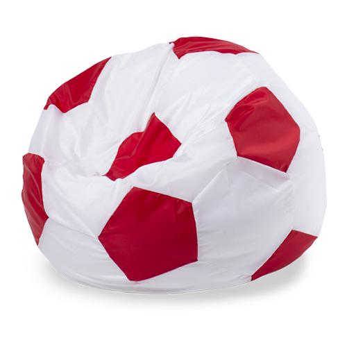 Пуффбери кресло-мешок Мяч XXL белый/красный оксфорд
