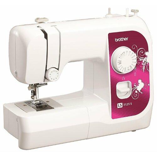Швейная машина Brother LS-3125 S, белый/бордовый