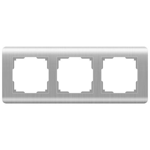 цена Рамка 3п Werkel WL12-Frame-03, серебристый онлайн в 2017 году
