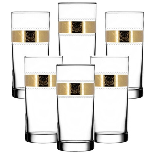 ГУСЬ-ХРУСТАЛЬНЫЙ Набор стаканов для сока Первоцвет TAV38-402 6 шт прозрачный/золотой гусь хрустальный набор бокалов для бренди лоза tav116 1812 6 шт прозрачный золотой