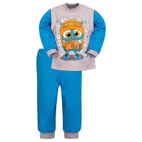 Купить Комплект одежды Утенок размер 92, голубой/меланж, Комплекты