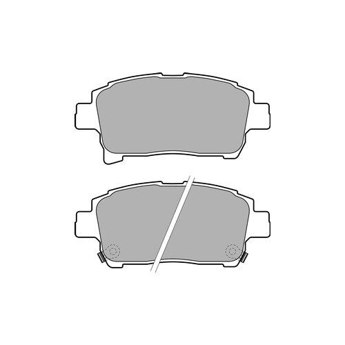 Фото - Дисковые тормозные колодки передние DELPHI LP1896 для Toyota Celica, Toyota iQ (4 шт.) дисковые тормозные колодки передние ferodo fdb4046 для toyota aurion toyota corolla 4 шт