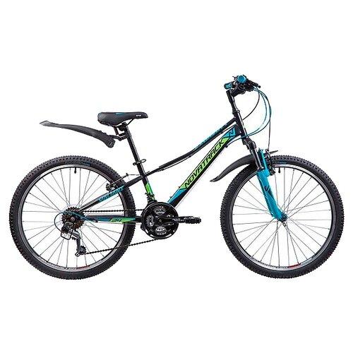 Подростковый горный (MTB) велосипед Novatrack Valiant 24 (2019) черный 12 (требует финальной сборки) novatrack extreme 24 черный
