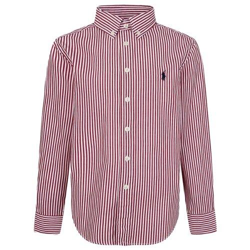Рубашка Ralph Lauren размер 140, красный/белый