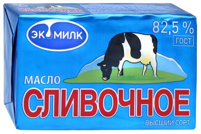 Экомилк Масло сливочное традиционное 82.5% 82.5%, 450 г