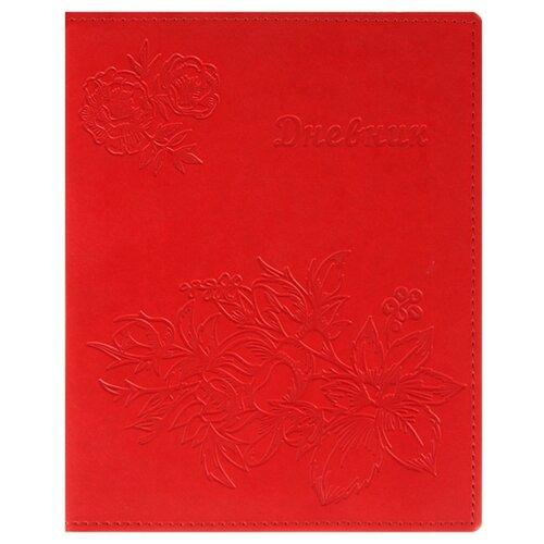 Calligrata Дневник Vivella Цветы красный calligrata дневник школьный супертачки 3