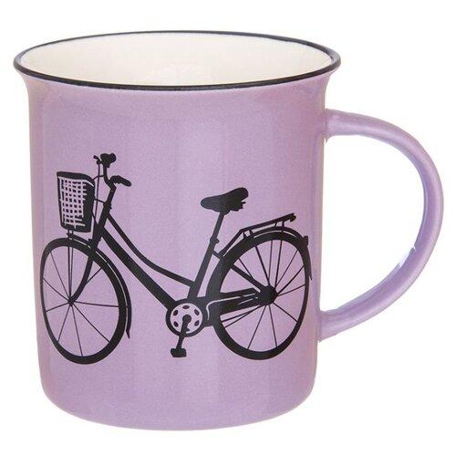 Elan gallery Кружка Велосипед 320 мл сиреневый набор кружек 2 предмета 320 мл 12х8 5х10 5 см elan gallery арабески бело бирюзовые