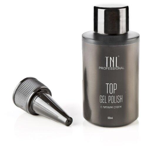 TNL Professional верхнее покрытие Top Gel Polish 50 мл прозрачный adricoco верхнее покрытие top gel polish с липким слоем 8 мл бесцветный