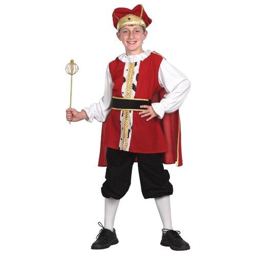 Купить Костюм Bristol Novelty Средневековый король (ПБ885), красный/черный/белый, размер 122-134, Карнавальные костюмы