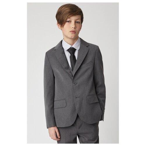Пиджак Gulliver размер 128, серый пиджак gulliver размер 128 синий
