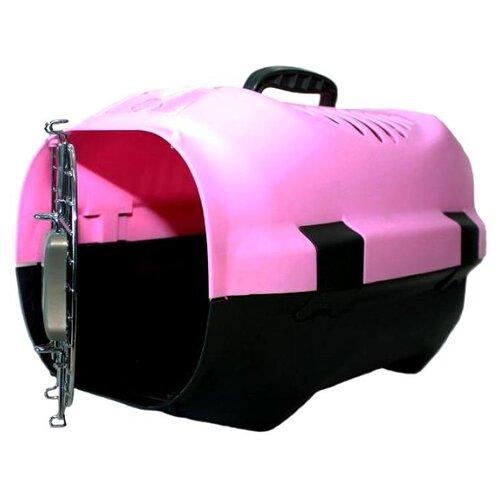 Фото - Клиппер-переноска для кошек и собак Родные места D02 37х31х52 см розовый клиппер переноска для собак imac linus cabrio 50х32х34 см розовый