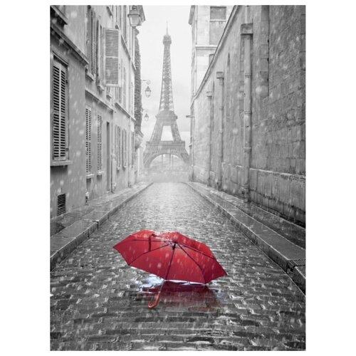 Фотообои флизелиновые Design Studio 3D Дождь в Париже 2х2.7м серый/красный недорого