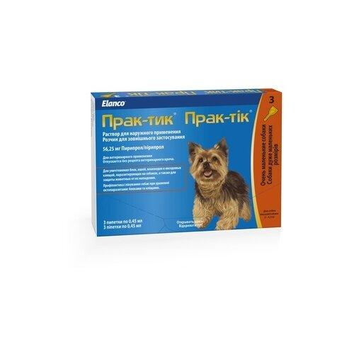 Elanco капли от блох и клещей Прак-тик для собак от 2 до 4.5 кг