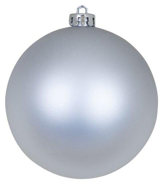 Новогодний шар, 10 см (цвет: белый)