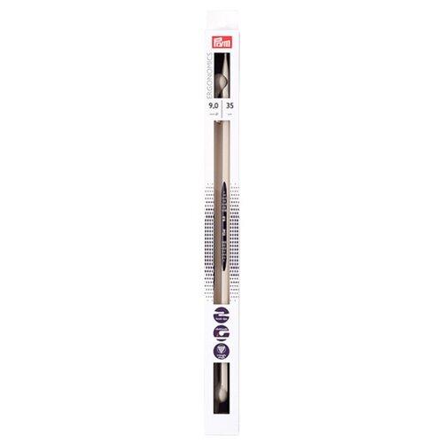 Спицы Prym полимерные Ergonomics, диаметр 9 мм, длина 35 см, алебастровый белый