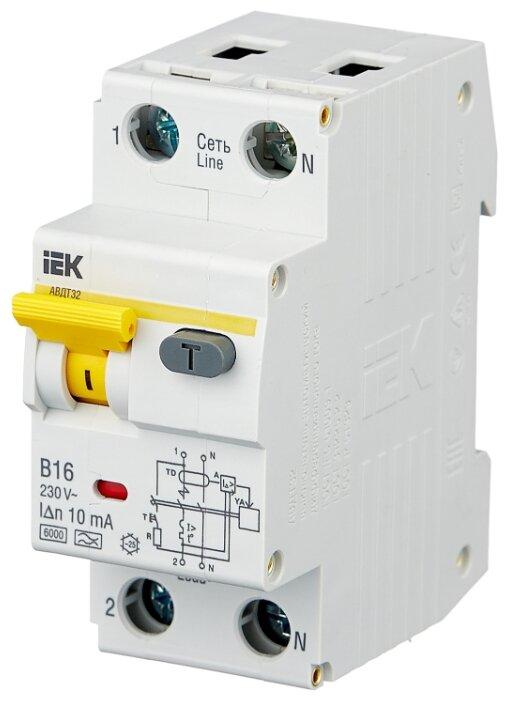 Дифференциальный автомат IEK АВДТ 32 2П 10 мА B