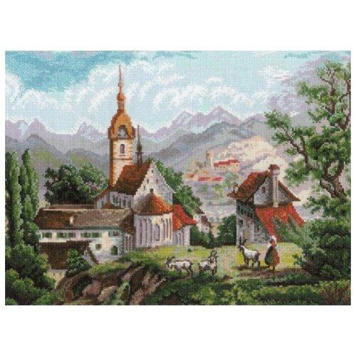 Купить Набор Монастырь Шоненверт (по мотивам гравюр XIX века) 40х30 Риолис 1701 1701, Наборы для вышивания
