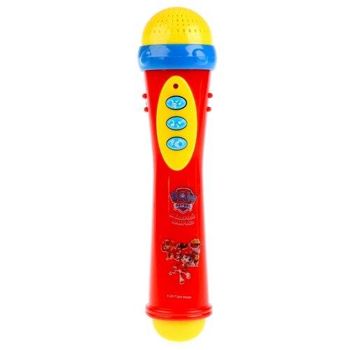 Купить Умка микрофон Щенячий патруль B1082812-R15 красный/желтый/голубой, Детские музыкальные инструменты