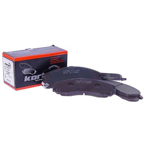 Дисковые тормозные колодки передние KORTEX KT1126T для Mitsubishi Pajero, Mitsubishi Galant (4 шт.) дисковые тормозные колодки передние nibk pn3809 для nissan nv200 mitsubishi l200 mitsubishi pajero sport 4 шт