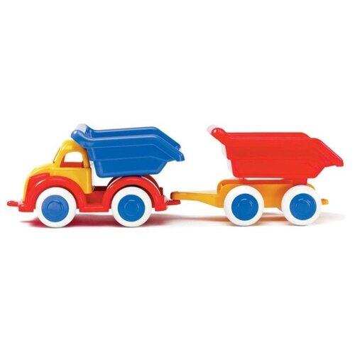 Купить Грузовик Viking Toys Джамбо с прицепом (1220) 25 см, Машинки и техника