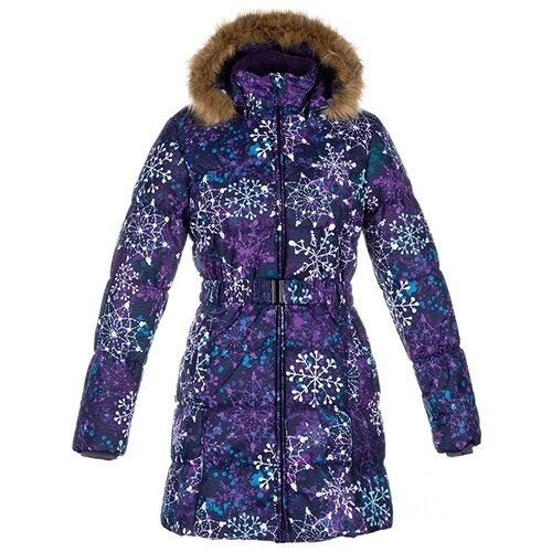 Пальто Huppa Yacaranda 12030030 размер 116, dark lilac pattern пальто huppa vivian размер 152 70002 yellow