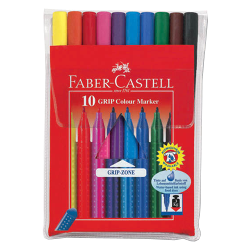 Купить Faber-Castell Набор фломастеров Grip, 10 цветов (155310), Фломастеры и маркеры