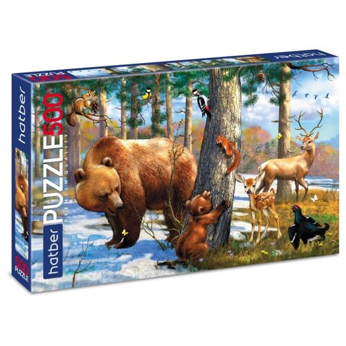 Купить Пазл Hatber Лесные друзья (500ПЗ2_18586), 500 дет., Пазлы
