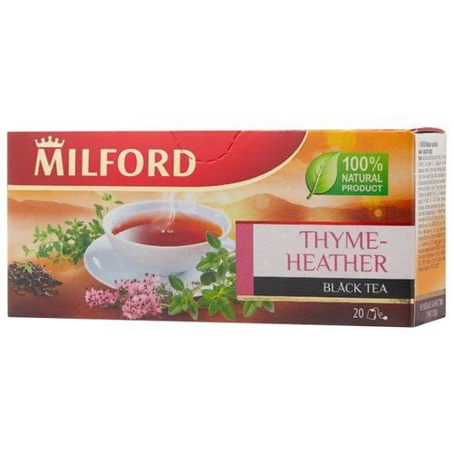 Чай черный Milford Thyme-heather в пакетиках, 20 шт. чай зеленый milford wellness в пакетиках 20 шт