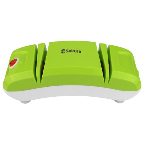 Электрическая точилка Sakura SA-6604 зеленый/белый