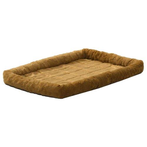 Лежак для собак и кошек Midwest QuietTime Faux Fur Deluxe Bolster 122х76 см cinnamon