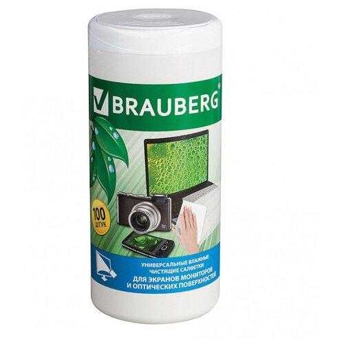 Фото - BRAUBERG 510122 влажные салфетки 100 шт. для оптики, для экрана defender cln30100 салфетки чистящие 110 шт