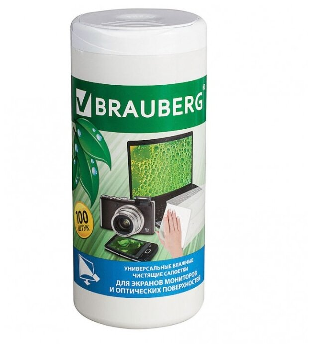 BRAUBERG 510122 влажные салфетки 100 шт.