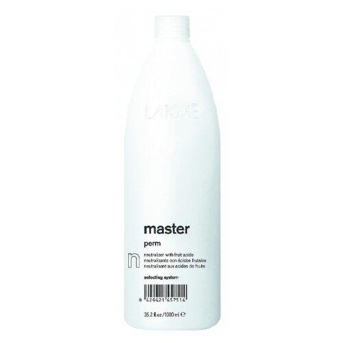 Фото - Lakme Нейтрализатор Master Perm Neutralizer, 1000 мл lakme master perm selecting system 1 waving lotion лосьон для нормальных волос 500 мл lakme master