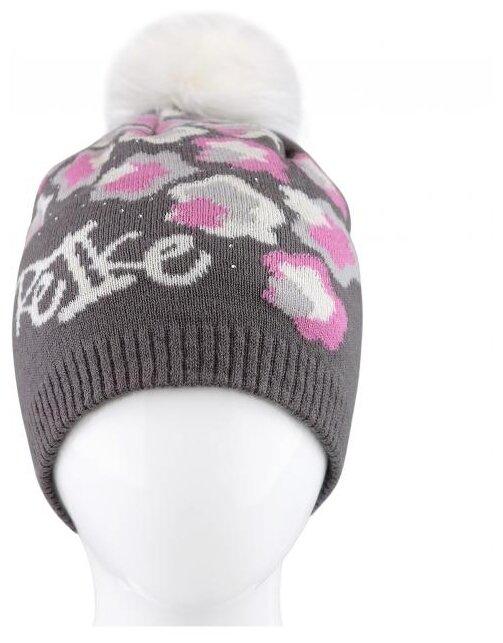 """Шапка для девочки Reike """"Frozen Leaves"""", цвет: серый, размер: 50"""
