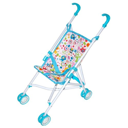 Купить Прогулочная коляска Mary Poppins Фантазия 67379 голубой, Коляски для кукол