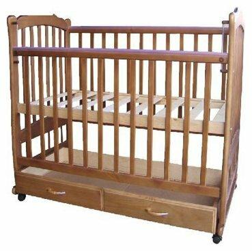 Кроватка Счастливый малыш Варвара 005 (качалка), на полозьях