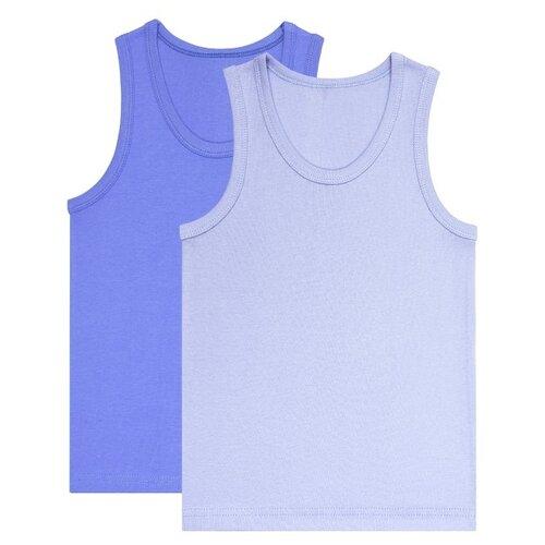 Купить Майка UNIK 2 шт., размер 128, голубой/синий, Белье и пляжная мода