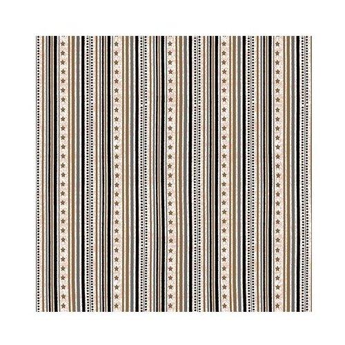 Ткань STOF PEPPY (P - W) для пэчворка 4497 фасовка 50 x 55 см 146±5 г/кв.м Полоски/звездочки 010, Ткани  - купить со скидкой
