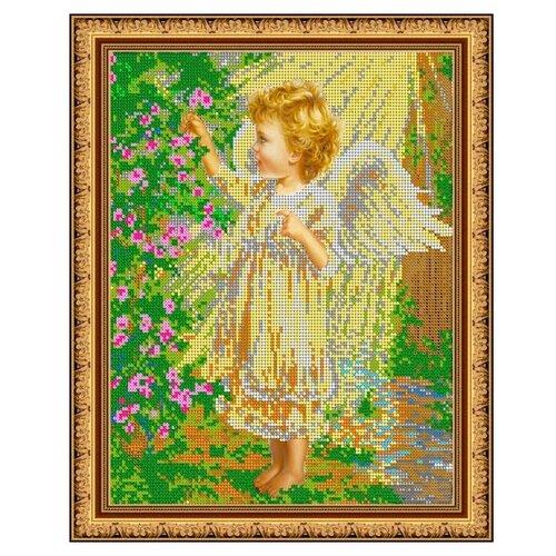 Купить Диамант Набор алмазной вышивки Ангелочек в саду (ДК-467) 30х38 см, Алмазная вышивка
