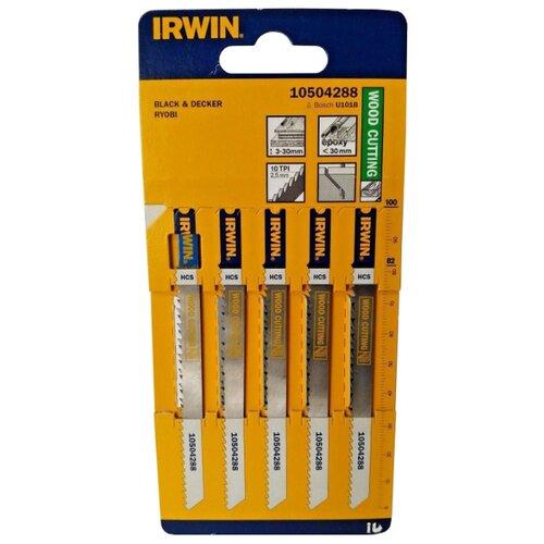 Набор пилок для лобзика Irwin 10504288 5 шт. irwin t005871 двойное режущее колесо для irwin duplex