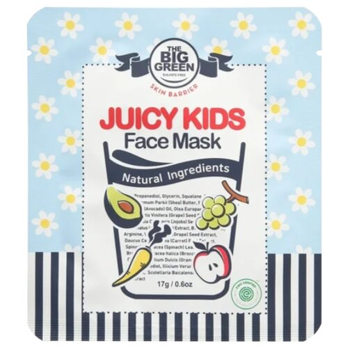 Купить The BIG GREEN Детская маска для лица Skin Barrier Juicy Kids 17 г, Уход за кожей