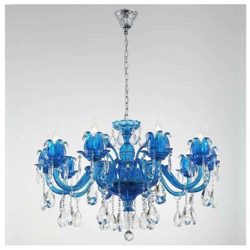 Фото - Люстра Lucia Tucci Ashanti 1250.10 Blu, G4, 400 Вт настенный светильник lucia tucci ashanti w1250 2 blu