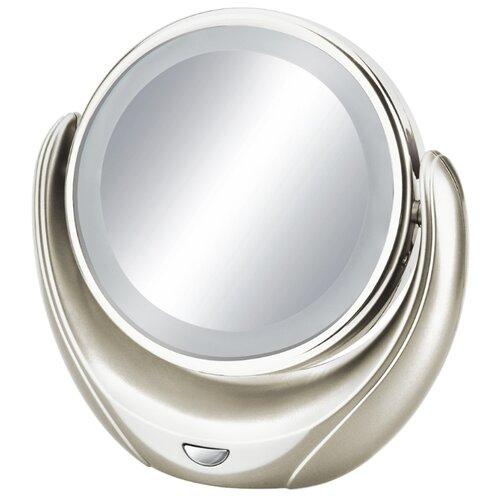 Зеркало косметическое настольное MARTA MT-2655 с подсветкой молочный жемчуг зеркало косметическое настольное marta mt 2653 с подсветкой молочный жемчуг