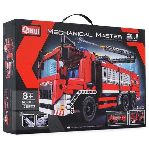 Купить Конструктор QiHui Mechanical Master 6805 Пожарная машина, Конструкторы