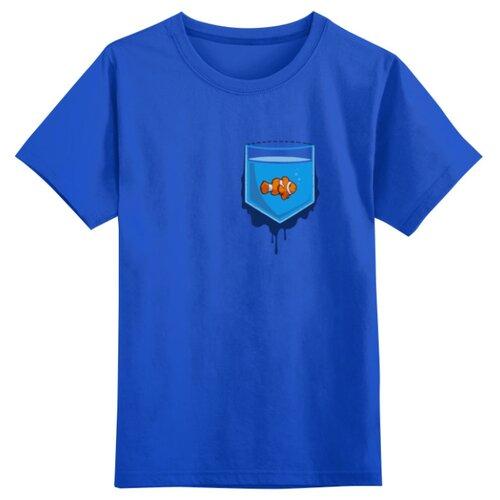 Купить Футболка Printio размер 5XS, синий, Футболки и майки
