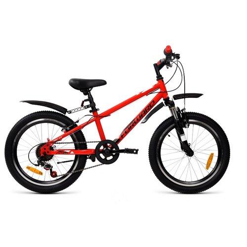 Подростковый горный (MTB) велосипед FORWARD Unit 20 2.0 (2020) красный 10.5 (требует финальной сборки) подростковый горный mtb велосипед forward dakota 24 1 0 2020 черный 13 требует финальной сборки
