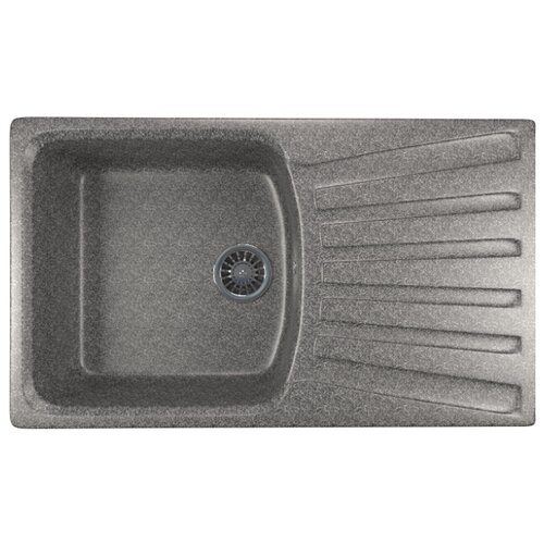 Фото - Врезная кухонная мойка 83 см Mixline ML-GM20 темно-серая 309 врезная кухонная мойка 75 см mixline ml gm19 серая 310