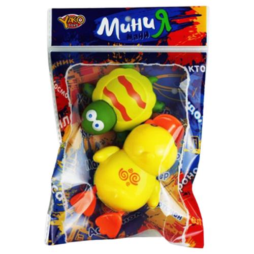 Купить Набор для ванной Yako Мини МаниЯ. Черепаха и утка (М6715) желтый, Игрушки для ванной
